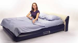 Air Mattress With Headboard Airmattress Aerobed Headboard Air Mattress With Built