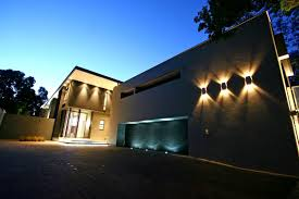 solarpowered exterior modern home lighting landscapings newest