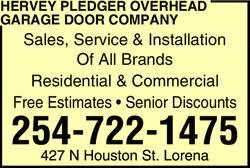 Houston Overhead Garage Door Company by Hervey Pledger Overhead Garage Door Company Lorena Tx 76655