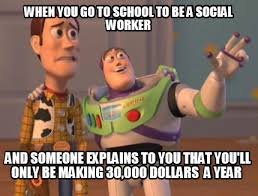 Social Worker Meme - meme maker when you go to school to be a social worker and