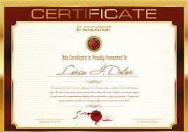 design a certificate template certificate design templates free