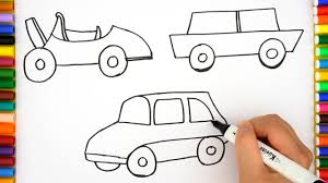 how to draw a car easy step by step car coloring pages for kids