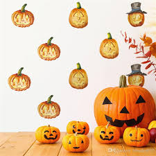 Halloween Room Decoration - happy halloween pumpkin witch wall sticker removable decal decor