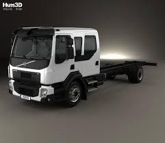 volvo truck 2013 price volvo fl crew cab chassis truck 2013 3d model hum3d