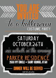 halloween invitation wording halloween costume party invitations which various color