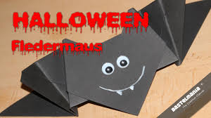 origami fledermaus halloween vampir bat youtube