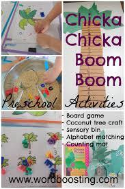 word boosting chicka chicka boom boom preschool activities