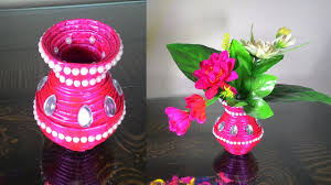 A Flower Vase How To Make Newspaper Flower Vase Diy Newspaper Crafts Youtube