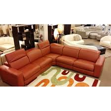 Power Sofa Recliners Leather Eva Italian Leather Sectional With Power Recliner