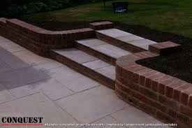 off set curved steps u0026 walling u0027lindfield u0027 conquest hard landscaping