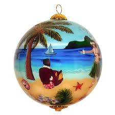 hula in paradise hawaiian ornament maui by design