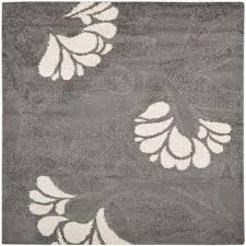 floral gray square area rugs rugs the home depot