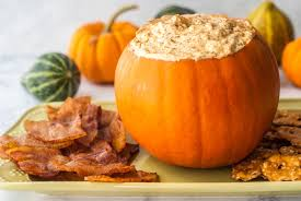 pumpkin foods pumpkin cheesecake dip with bacon chips low carb my life