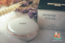 review iope air cushion 2017 intense cover punica makeup