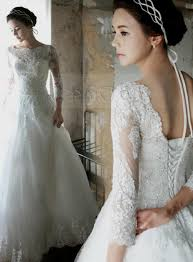 Vintage Style Wedding Dresses Vintage Wedding Dresses With 3 4 Sleeves Naf Dresses