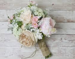 silk wedding bouquets pink peony bouquet pink wedding bouquet blueorchidcreations