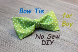 no sew diy boy u0027s bowtie easy tutorial youtube