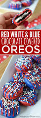 Red White And Blue Chocolate 4th Of July Chocolate Covered Oreos Easy Chocolate Dipped Oreos