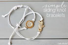 cord bracelet with charm images Sliding knot bracelet diy crafts unleashed jpg