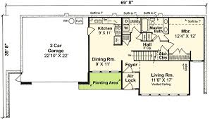 earth contact home plans earth sheltered home plan 11392g architectural designs house
