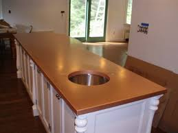 kitchen island tops copper countertops hoods sinks ranges panels by custom