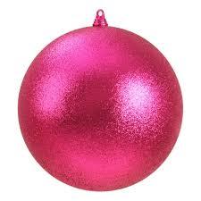 340mm glitter baubles pink dzd