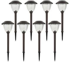 desert steel solar lights solar lights outdoor living home garden qvc com