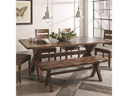 coaster alston rustic dining table with wavy edge del sol