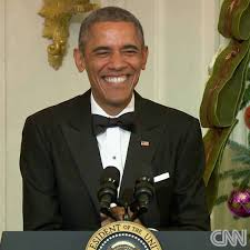 cnn even president obama can t help but laugh at his own