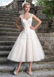tulle wedding dress line princess sweetheart tea length tulle wedding dresses with