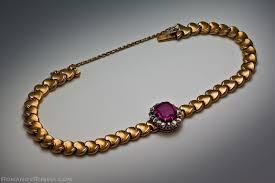 gold vintage bracelet images Antique russian gold diamond and 2 ct ruby bracelet antique jpg