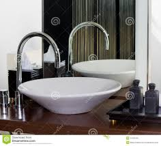 modern bathroom tap and sink stock photo image 14168440