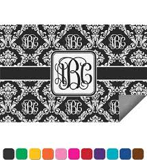 Personalized Outdoor Rugs Monogrammed Damask Indoor Outdoor Rug 4 X6 Personalized