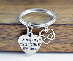 personalized keychain gifts always my forever my friend keychain gift for