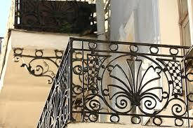 iron balcony fence stock photo image 61037511