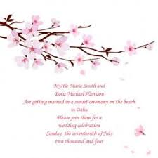 cherry blossom wedding invitations cherry blossom theme wedding ideas
