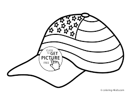 flag cap coloring pages usa independence day coloring pages for