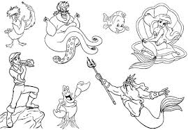 printable coloring pages little mermaid kids coloring