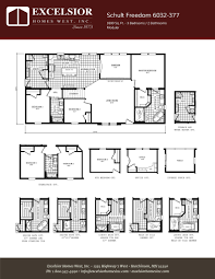 schult modular home floor plans schult freedom 6032 377 excelsior homes west inc