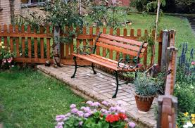Outdoor Bench Seat Designs by Furniture Garden Bench On Green Grass For Decorate Outdoor Patio