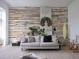 Whitewashed Wood Paneling Photomural