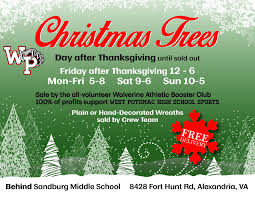 christmas tree for sale christmas tree wreath sale wabc fundraiser west potomac high