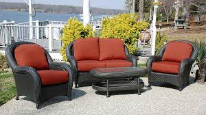 wicker patio furniture sets the home depot for stylish house prepare