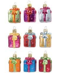 kurt adler 9 glass mini gifts ornaments for
