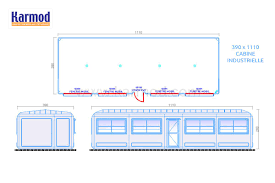bureau d atelier modulaire 390 x 1110 cabine préfabriquée bureau d atelier modulaire