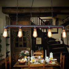 Restaurant Pendant Lighting Vintage Industrial Iron Conduit Loft Pendant Ls American Metal