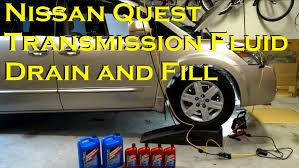 nissan armada quarts oil automatic transmission fluid drain and fill nissan quest youtube