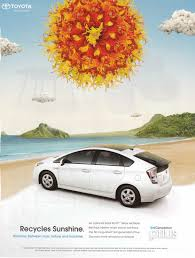 the prius ad pegs the meter on environmental imagery this prius