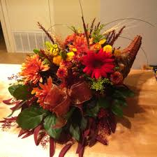 thanksgiving floral arrangement i reuse the same cornucopia every