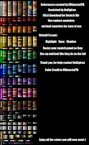 color references 5 swatches by illusiveelusive design